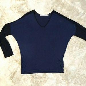 Michael Stars Color block raglan baseball T Shirt